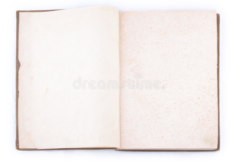 Open vintage book royalty free stock photo