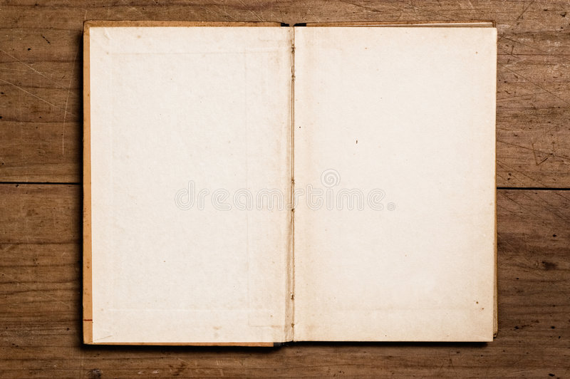 Open vintage book. royalty free stock images