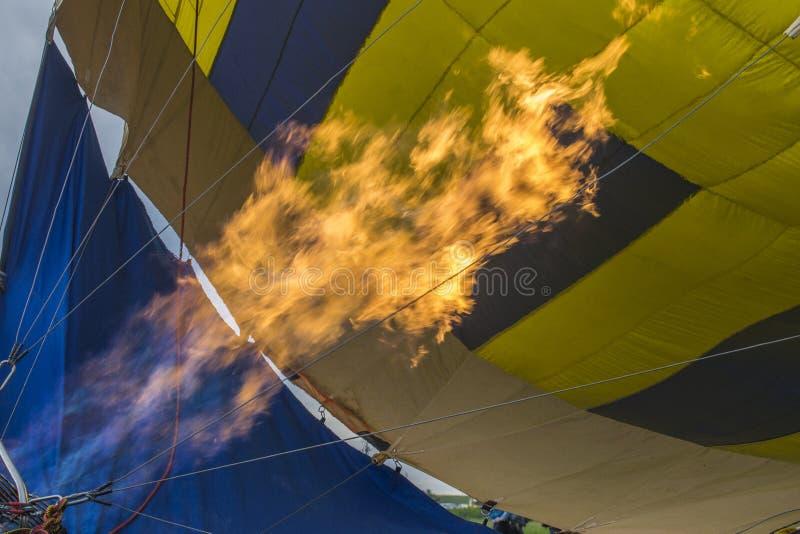 Open vlam voor luchtballon royalty-vrije stock afbeelding