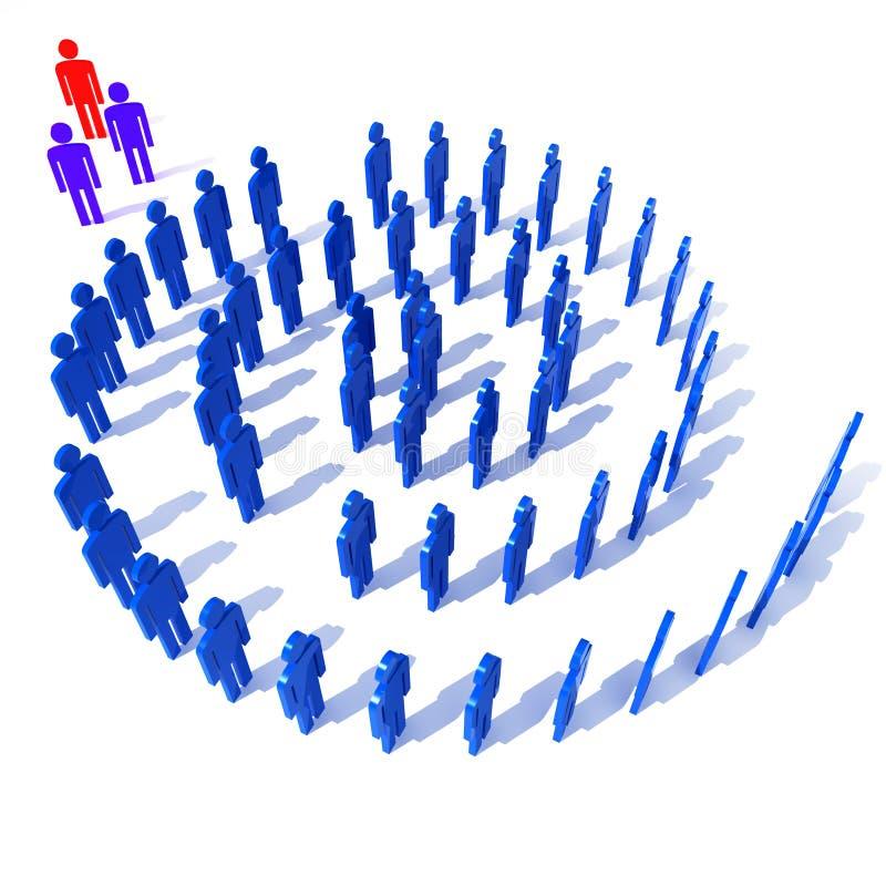 Open voor nieuw idee vector illustratie