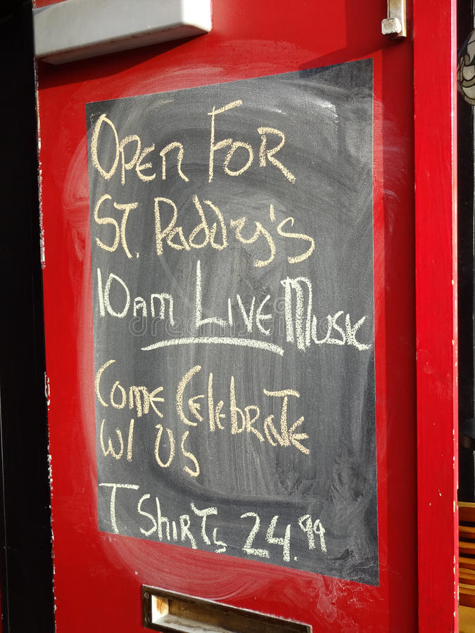 Open voor St Patrick Dag stock fotografie