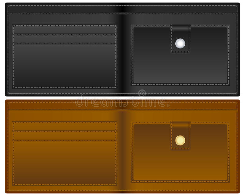 Open wallet vector illustration