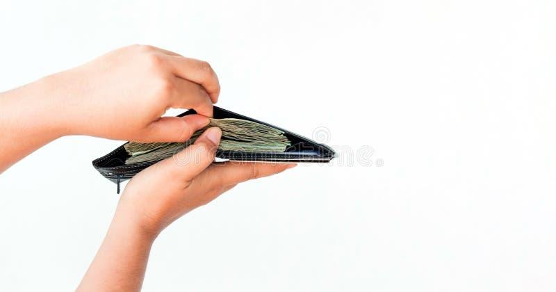 Open wallet stock image