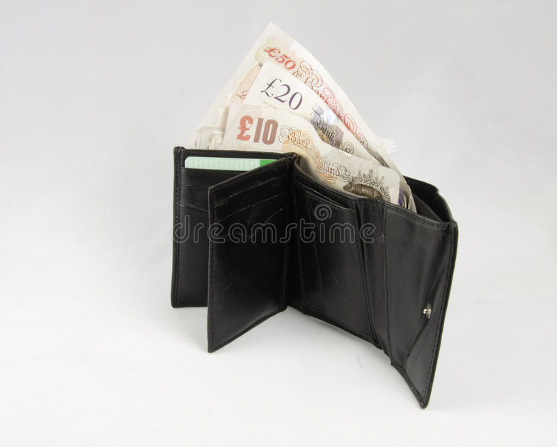 Open Wallet With Notes Royalty Free Stock Photos