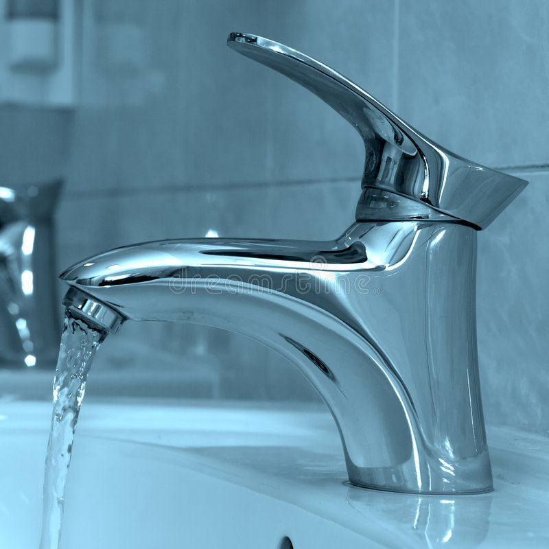 Open water faucet royalty free stock photography
