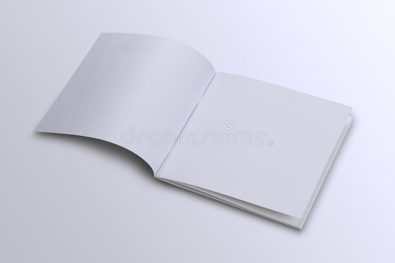 Open White Blank Brochure Magazine Cover for Mock up. White Blank Brochure Magazine Cover for Mock up stock photo