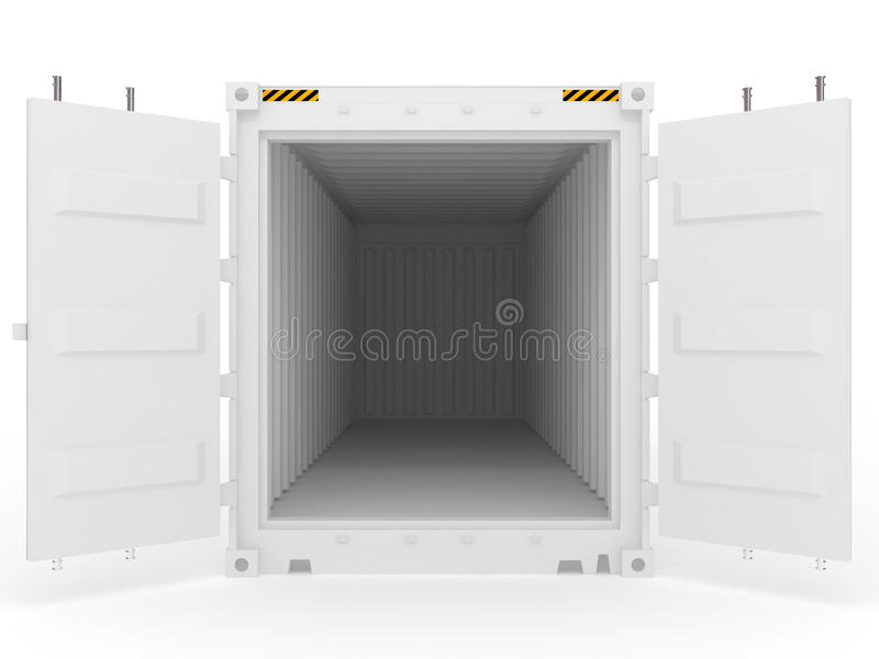 Open white cargo container royalty free illustration