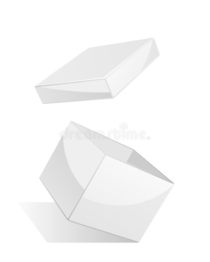 Download Open white gift box stock vector. Image of white, empty - 17476765