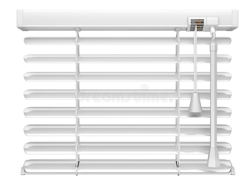 Open white window blinds. 3d illustration isolated on a white background stock illustration