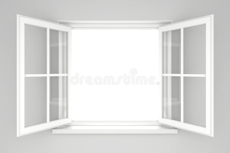 Open window stock illustration