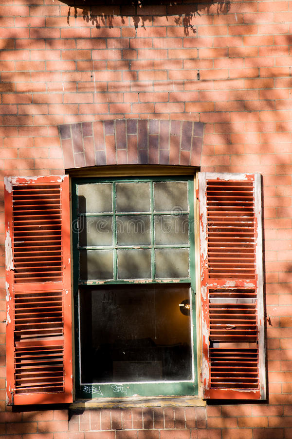 Open Window. A window open awaiting the breeze in Sydney Harbours soon to be changed Millers Point stock photos