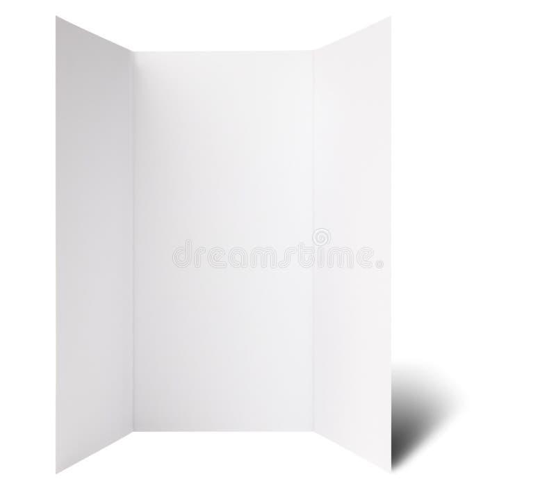 Open window fold flyer. Blank window folded flyer, ready for your own design stock image