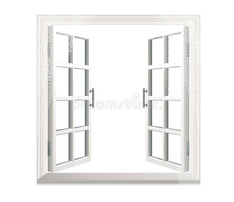 Download Open Window On Isolated Background Stock Photo - Image: 12273750