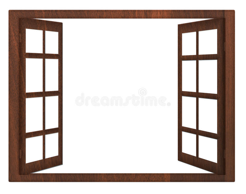 Open window isolation stock photo