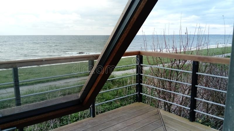 Open window by the sea royalty free stock photo