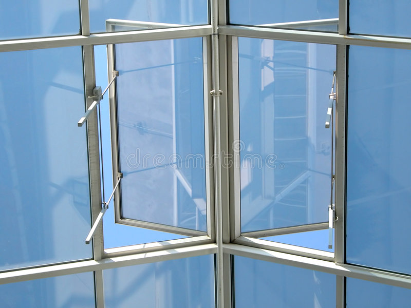 Open window to sky royalty free stock photography