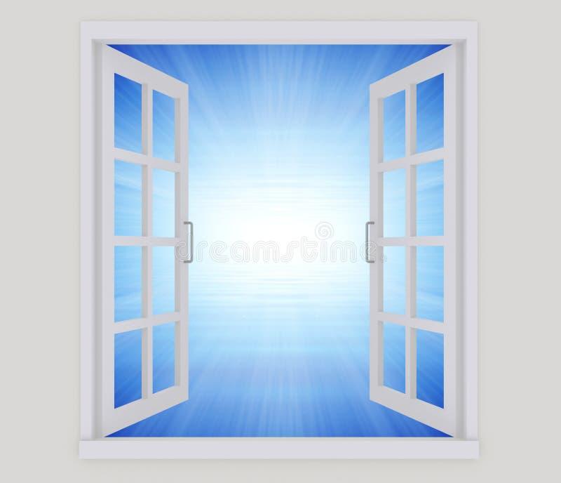Open window vector illustration