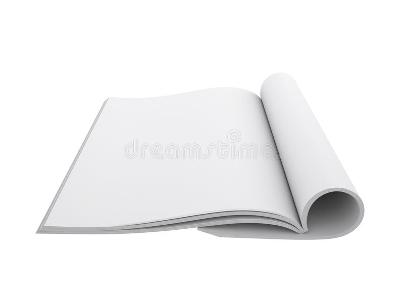 Open wit boek vector illustratie