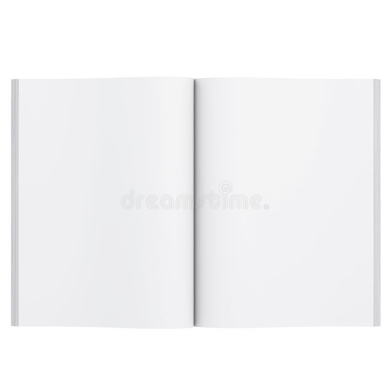 Open wit boek stock illustratie