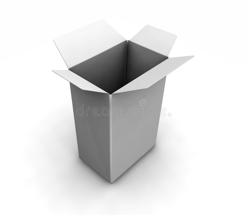 Open witte doos royalty-vrije illustratie