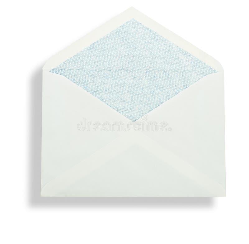 Open witte envelop royalty-vrije stock foto