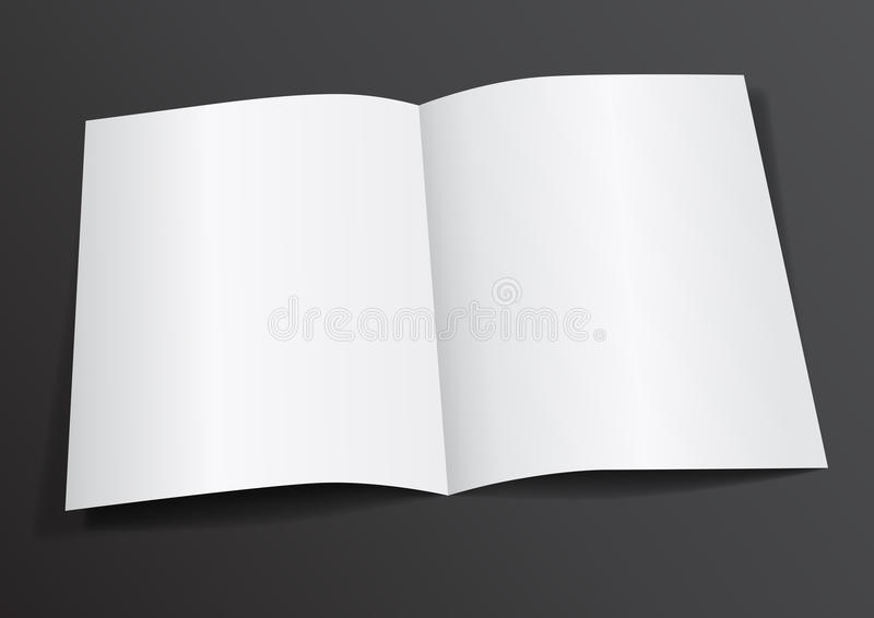 Open Witte Spatie Gevouwen A4-A5-Vlieger voor Spot omhoog - Vectorillustr stock illustratie