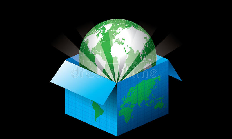 Download Open the world stock vector. Image of package, globe - 25703321
