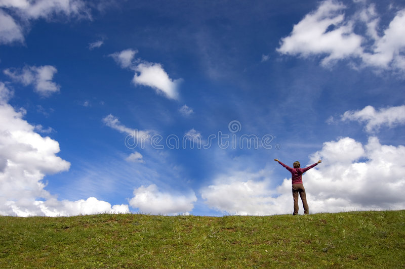 Open your arms stock photography