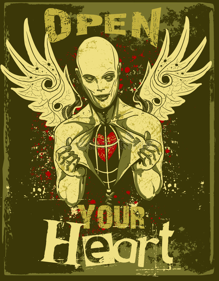 Free Open Your Heart Evil Royalty Free Stock Photography - 4333947