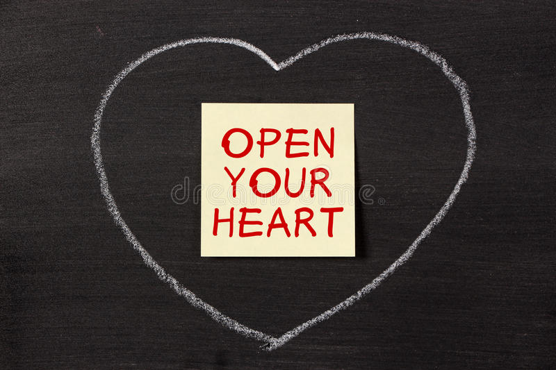 Open Your Heart stock photos