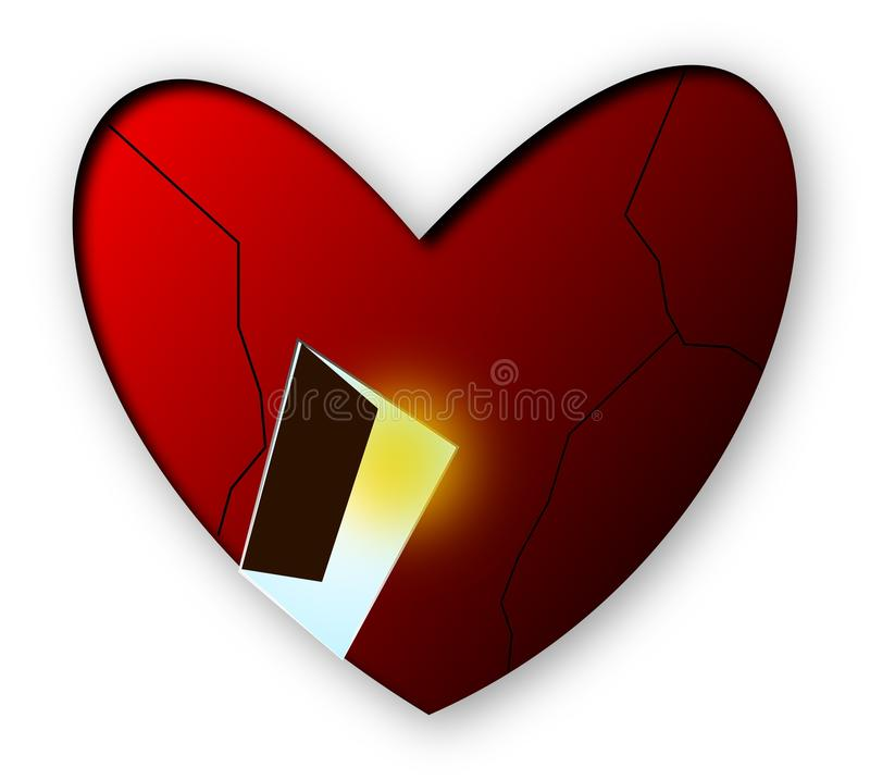 Open Your Heart royalty free stock images