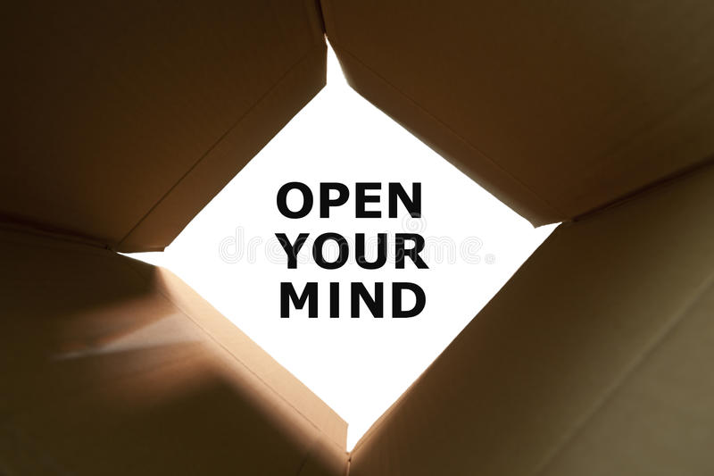 Open Your Mind Concept stock image