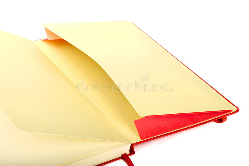 Open zak van notitieboekje stock afbeelding