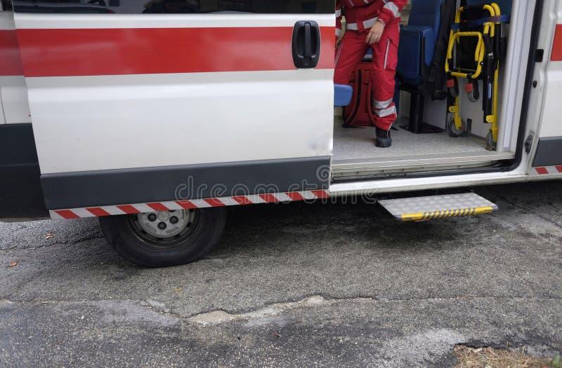 Open ziekenwagen stock foto's