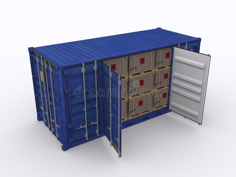 Open zijcontainer vector illustratie