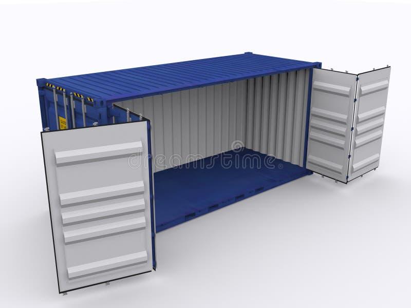 Open zijcontainer royalty-vrije illustratie