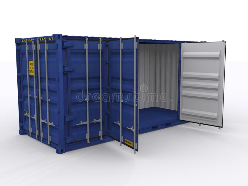 Open zijcontainer stock illustratie