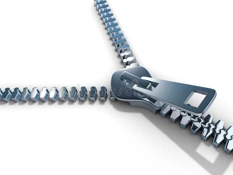 Open zipper vector illustration