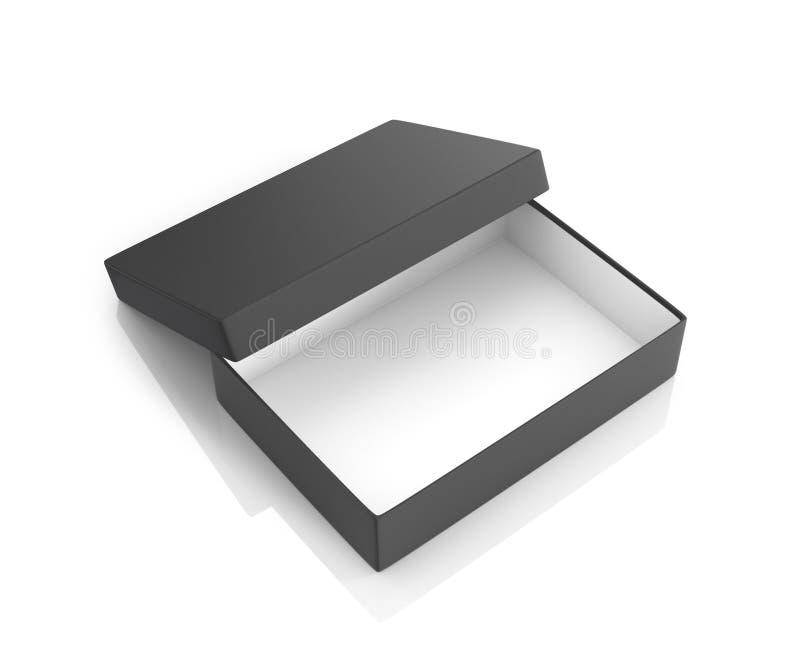 Open zwart document vakje vector illustratie