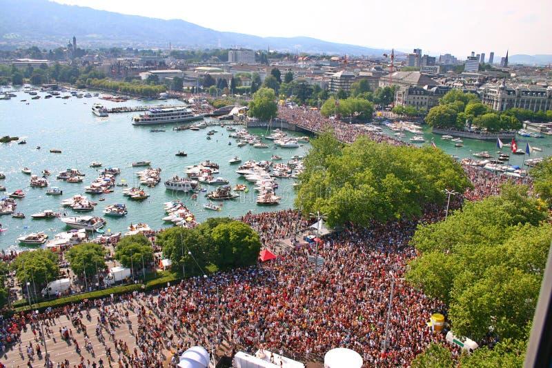 Openair Rave. StreetParade, in Zurich, Switzerland stock image