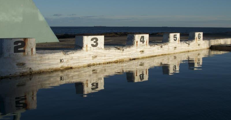 Openbaar baden zwembad; Newcastle, Australië royalty-vrije stock foto's