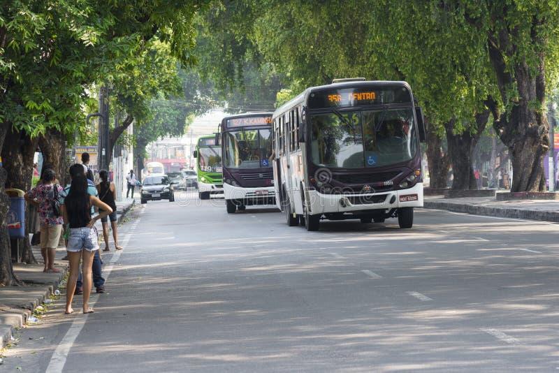 Openbaar busvervoer in Manaus, Brazilië royalty-vrije stock foto's