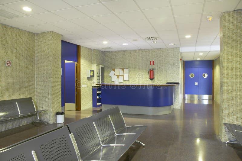 Openbaar gebouw wachtend gebied Gezondheidszorgcentrum niemand royalty-vrije stock foto