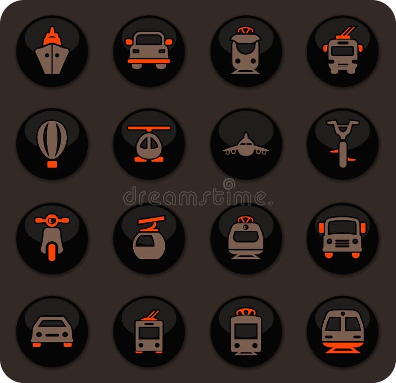 Openbaar geplaatste vervoerpictogrammen stock illustratie