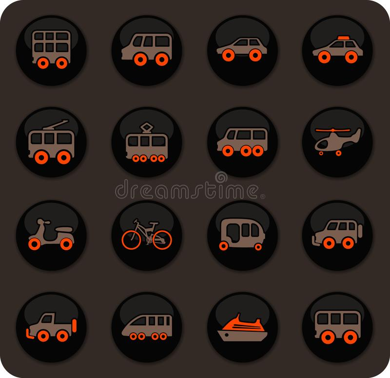Openbaar geplaatste vervoerpictogrammen royalty-vrije illustratie