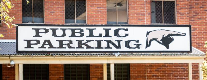 Openbaar parkerenteken royalty-vrije stock foto's