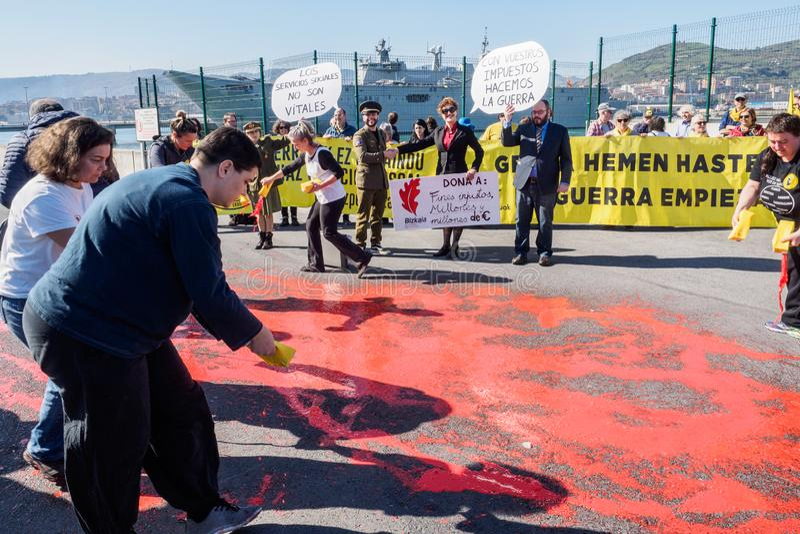Openbaar protest stock foto's