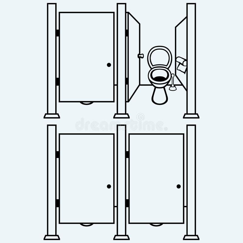 Openbaar toilet royalty-vrije illustratie