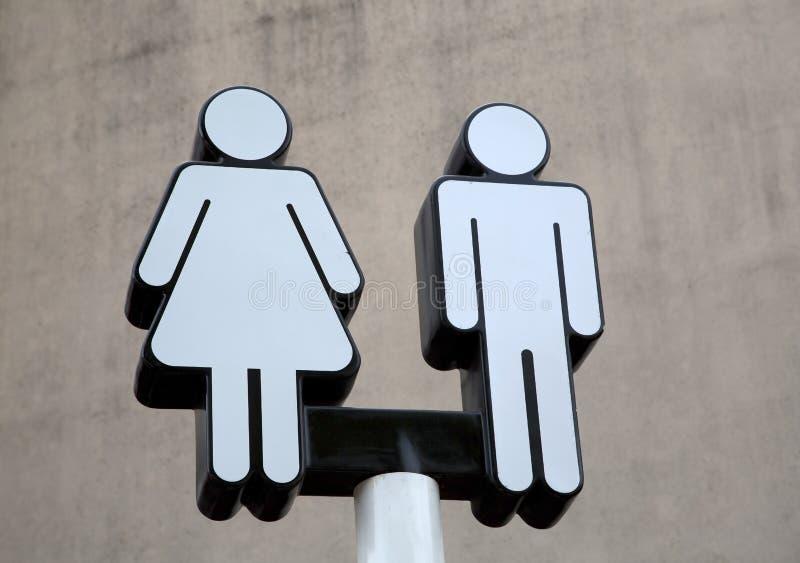 Openbaar toiletteken stock fotografie
