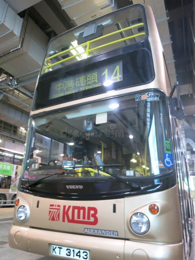 Openbaar vervoer in Hong Kong: Bussen royalty-vrije stock afbeelding